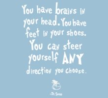 dr seuss you have brains in your head T-Shirt