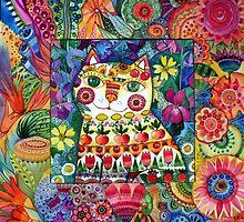 Flower cat by oxana zaika