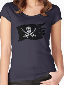 Digital Pirate Jolly Roger Women's Fitted Scoop T-Shirt