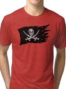 Digital Pirate Jolly Roger Tri-blend T-Shirt