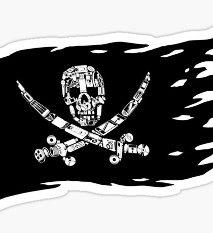 Digital Pirate Jolly Roger Sticker