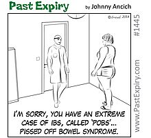 Cartoon : Extreme Irritable Bowel Syndrome Photographic Print