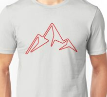 red abstract mountain Unisex T-Shirt