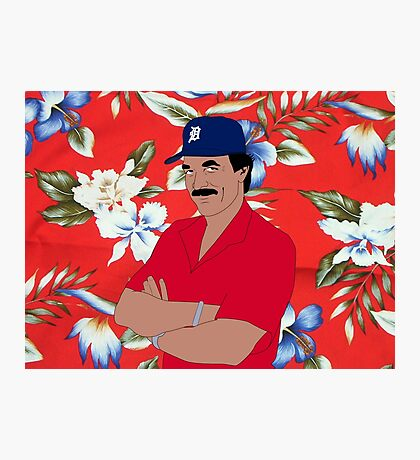Magnum Stache Photographic Print