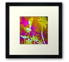 Mustard Bird Framed Print