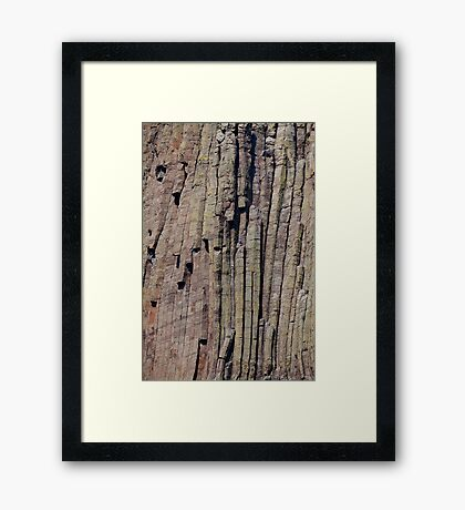 Climbers on Devils Tower Framed Print