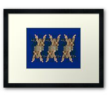Cardboard Monkey Design Framed Print