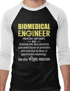 Biomedical Engineer Shirt - Biomedical Engineer Definition Men's Baseball ¾ T-Shirt