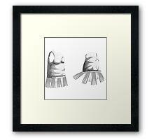 Glitch Dresses Flapper Dress Framed Print
