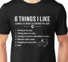 JP.Shirt: 6 Things I Like jeep - Funny jeep Unisex T-Shirt