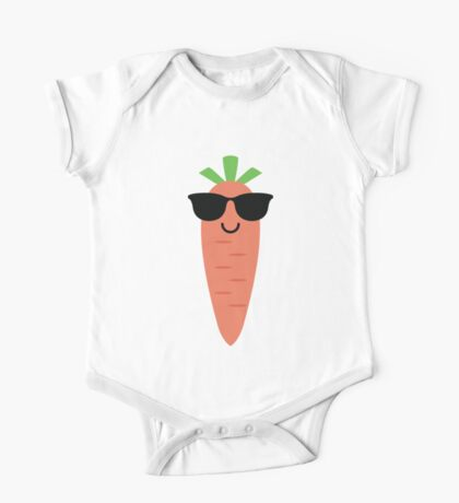 Carrot Emoji Cool Sunglasses One Piece - Short Sleeve