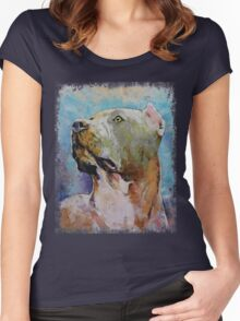 Pit Bull. Women's Fitted Scoop T-Shirt