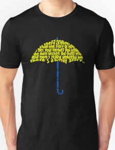 Yellow Umbrella Unisex T-Shirt