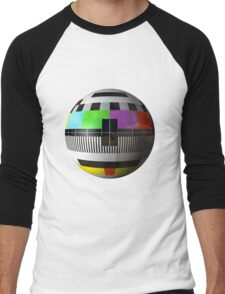 3D TV test pattern  Men's Baseball ¾ T-Shirt