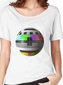3D TV test pattern  Women's Relaxed Fit T-Shirt