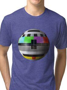 3D TV test pattern  Tri-blend T-Shirt