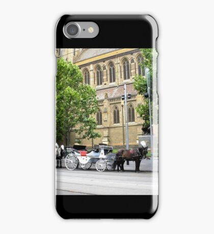 Melbourne Horse Drawn Carriages iPhone Case/Skin