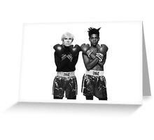 Basquiat Warhol and keep calm  Greeting Card