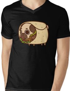 Puglie Burrito Mens V-Neck T-Shirt