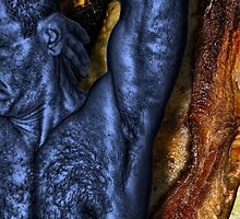 Blue Half Torso on Bacon and Chicken by GolemAura