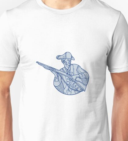American Patriot Minuteman Rifle Mono Line Unisex T-Shirt