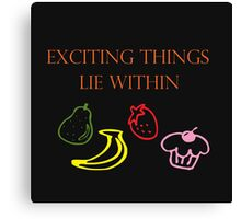 Exciting Things Lie Within Canvas Print
