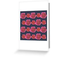 NAVY FLORALS Greeting Card