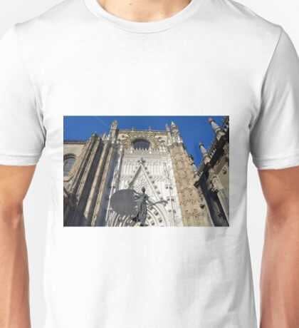 Detail of the entrance in the cathedral of Seville, Spain Unisex T-Shirt