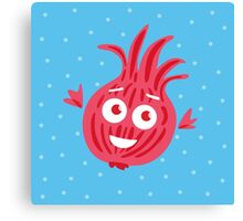 Cute Red Onion #digistickie Canvas Print