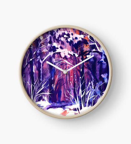 Winter Forest  Clock