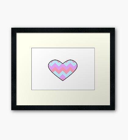 Chevron Heart Framed Print
