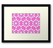 Geometrical Pink - Floral Decor Framed Print