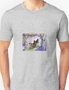 Out In The Meadowbrook Cart  T-Shirt