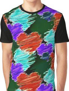 Noir Cartoon Hearts Graphic T-Shirt