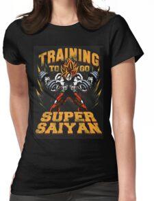 super-saiyan Womens Fitted T-Shirt