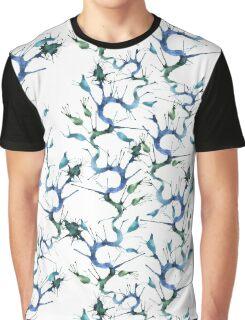 Blue seaweeds pattern Graphic T-Shirt