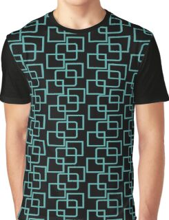 Crazy Squares green and black Graphic T-Shirt