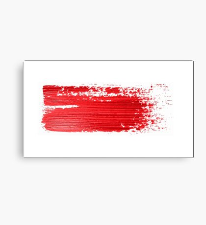Red brush strokes  Canvas Print