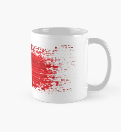 Red brush strokes  Mug
