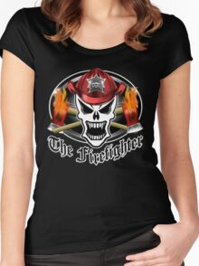 Fire Fighter Skull 2.6 Women's Fitted Scoop T-Shirt