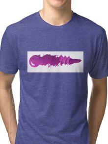 Magenta brush strokes Tri-blend T-Shirt