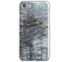 12.1.2017: Pine Trees in Blizzard iPhone Case/Skin
