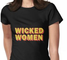Wicked woman Womens Fitted T-Shirt