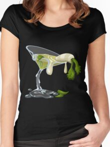 Glitch Drinks face smelter Women's Fitted Scoop T-Shirt