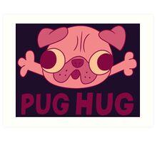 GF - Pug Hug Art Print
