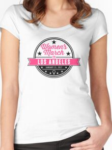 women's march on los angeles Women's Fitted Scoop T-Shirt