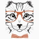 Hipster Cat  by CroDesign