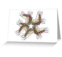 Star ribbon design Greeting Card