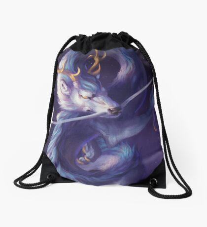 Cosmic Dragon Drawstring Bag