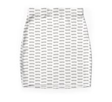 Coffee word made out of coffee beans, repetitive tiled background Mini Skirt